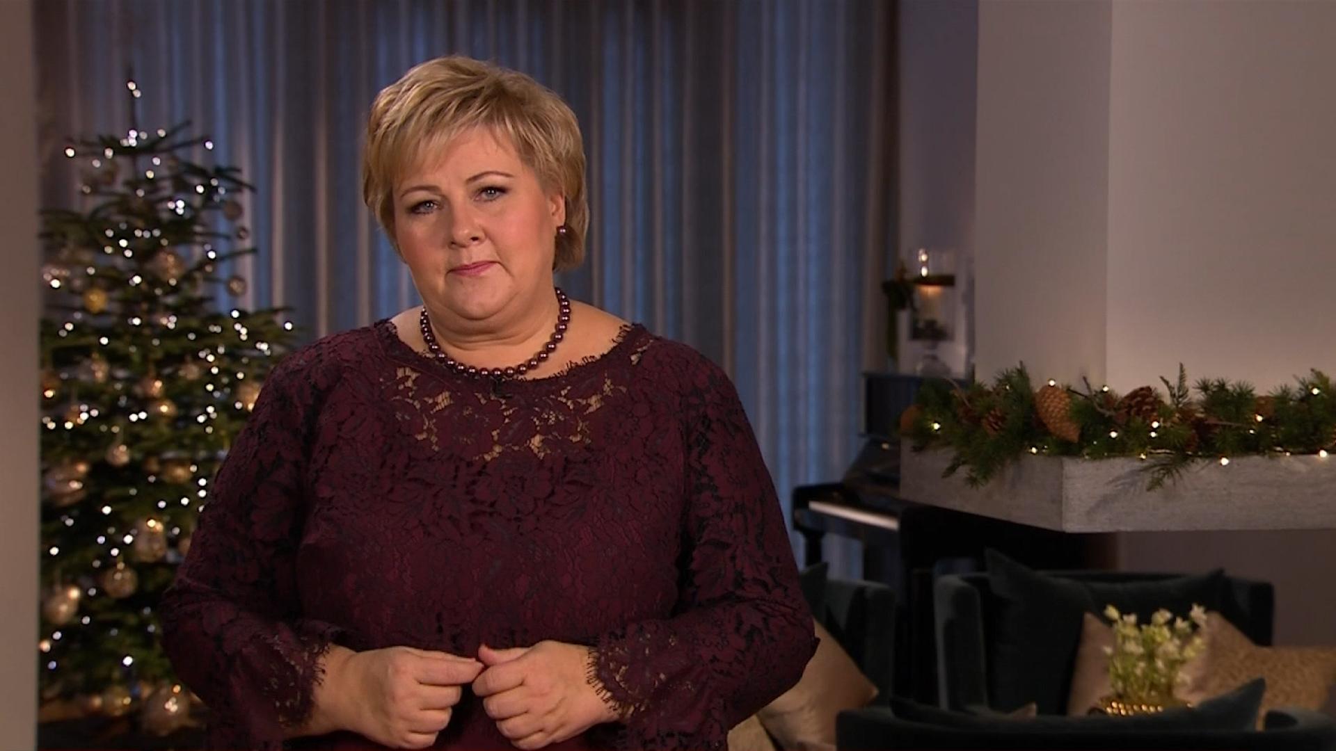 Siste video: Erna Solbergs nyttårstale